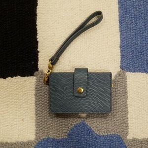 Light Blue Fossil Card Wallet Wristlet